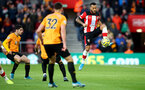SOUTHAMPTON, ENGLAND - JANUARY 18: Ryan Bertrand of Southampton during the Premier League match between Southampton FC and Wolverhampton Wanderers at St Mary's Stadium on January 18, 2020 in Southampton, United Kingdom. (Photo by Matt Watson/Southampton FC via Getty Images)