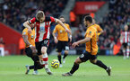 SOUTHAMPTON, ENGLAND - JANUARY 18: Stuart Armstrong during the Premier League match between Southampton FC and Wolverhampton Wanderers at St Marys Stadium on January 18, 2020 in Southampton, United Kingdom. (Photo by Chris Moorhouse/Southampton FC via Getty Images)