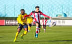 SOUTHAMPTON, ENGLAND - JANUARY 18: Jayden Smith of Southampton FC in possessin during the Barclays Under 18 Premier League match between Southampton FC and Arsenal FC at the Staplewood Campus on January 18, 2020 in Southampton, England