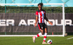 SOUTHAMPTON, ENGLAND - JANUARY 18: Allan Tchaptchet of Southampton FC in possession during the Barclays Under 18 Premier League match between Southampton FC and Arsenal FC at the Staplewood Campus on January 18, 2020 in Southampton, England