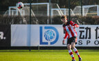 SOUTHAMPTON, ENGLAND - JANUARY 18: Will Tizzard of Southampton FC during the Barclays Under 18 Premier League match between Southampton FC and Arsenal FC at the Staplewood Campus on January 18, 2020 in Southampton, England