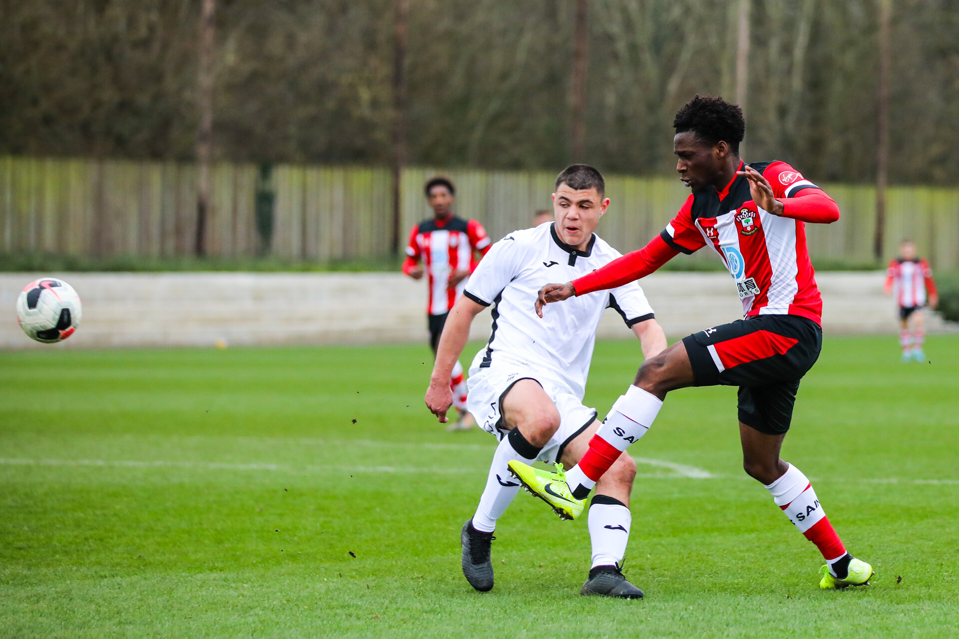 SOUTHAMPTON, ENGLAND - JANUARY 23: during the Barclays Under 18 Premier League match between Southampton FC and Swansea City at the Staplewood Campus on January 23, 2020 in Southampton, England