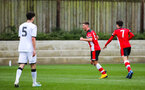 SOUTHAMPTON, ENGLAND - JANUARY 23: Jack Turner of Southampton FC (C) celebrates after scoring his side's second goal during the Barclays Under 18 Premier League match between Southampton FC and Swansea City at the Staplewood Campus on January 23, 2020 in Southampton, England