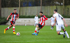 SOUTHAMPTON, ENGLAND - JANUARY 23: Jayden Smith of Southampton FC passes the ball during the Barclays Under 18 Premier League match between Southampton FC and Swansea City at the Staplewood Campus on January 23, 2020 in Southampton, England