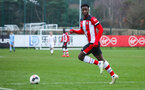 SOUTHAMPTON, ENGLAND - JANUARY 23: Roland Idowu of Southampton FC during the Barclays Under 18 Premier League match between Southampton FC and Swansea City at the Staplewood Campus on January 23, 2020 in Southampton, England