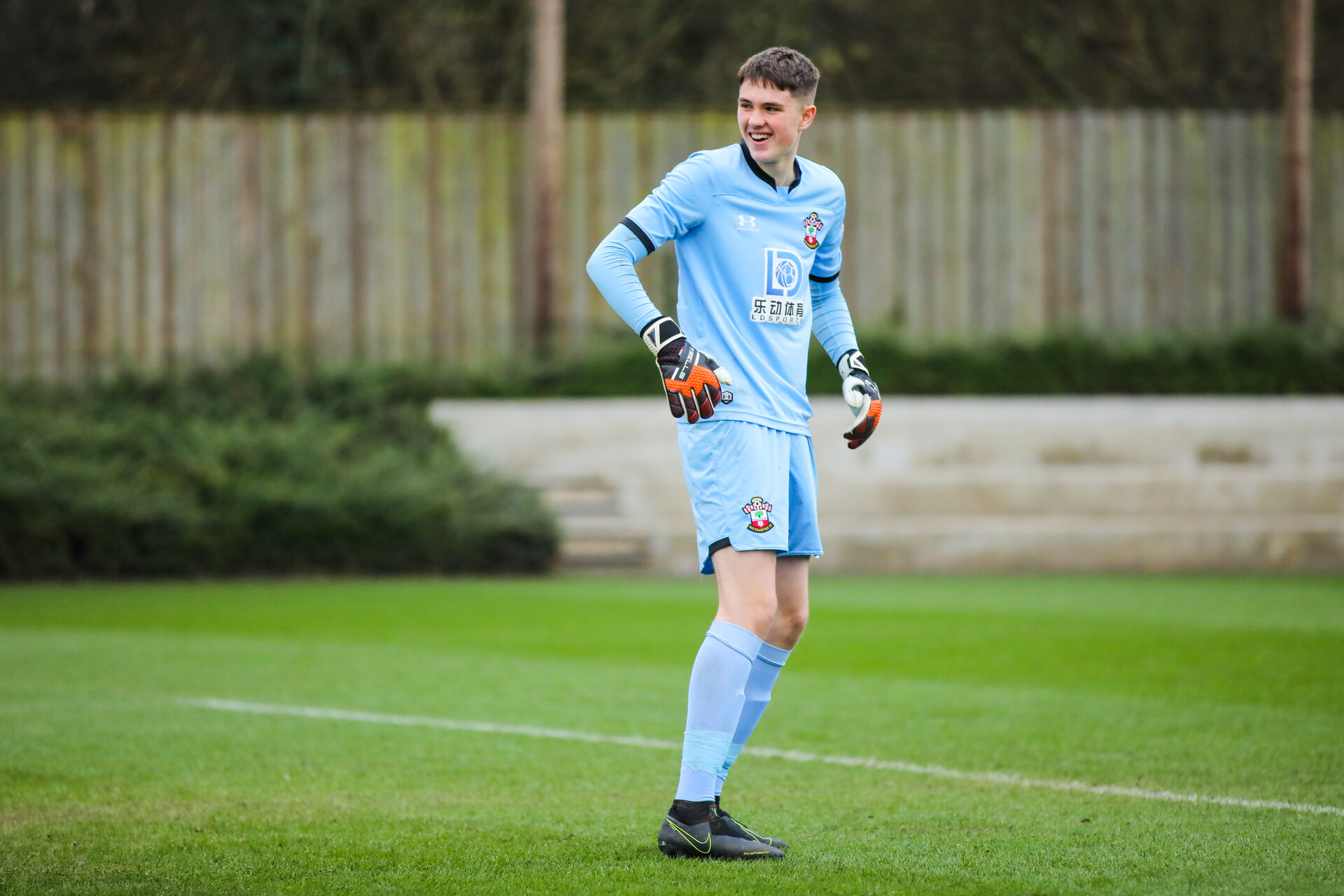 SOUTHAMPTON, ENGLAND - JANUARY 23: Oliver Wright of Southampton FC during the Barclays Under 18 Premier League match between Southampton FC and Swansea City at the Staplewood Campus on January 23, 2020 in Southampton, England