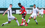 SOUTHAMPTON, ENGLAND - JANUARY 23: Kazeem Olaigbe of Southampton FC during the Barclays Under 18 Premier League match between Southampton FC and Swansea City at the Staplewood Campus on January 23, 2020 in Southampton, England