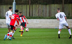 SOUTHAMPTON, ENGLAND - JANUARY 23: Jack Turner of Southampton FC scores his third goal and his side's fifth goal during the Barclays Under 18 Premier League match between Southampton FC and Swansea City at the Staplewood Campus on January 23, 2020 in Southampton, England