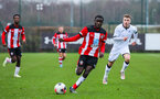 SOUTHAMPTON, ENGLAND - JANUARY 23: Lucas Defise of Southampton FC during the Barclays Under 18 Premier League match between Southampton FC and Swansea City at the Staplewood Campus on January 23, 2020 in Southampton, England