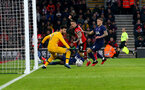 SOUTHAMPTON, ENGLAND - JANUARY 25: The ball goes just wide after a shot from Danny Ings of Southampton during the FA Cup Fourth Round match between Southampton FC and Tottenham Hotspur at St. Mary's Stadium on January 25, 2020 in Southampton, England. (Photo by Matt Watson/Southampton FC via Getty Images)