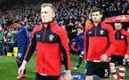 SOUTHAMPTON, ENGLAND - JANUARY 25: James Ward-Prowse(L) and Jack Stephens of Southampton during the FA Cup Fourth Round match between Southampton FC and Tottenham Hotspur at St. Mary's Stadium on January 25, 2020 in Southampton, England. (Photo by Matt Watson/Southampton FC via Getty Images)