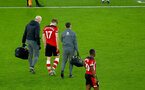 SOUTHAMPTON, ENGLAND - JANUARY 25: Stuart Armstrong of Southampton leaves the pitch with an injury during the FA Cup Fourth Round match between Southampton FC and Tottenham Hotspur at St. Mary's Stadium on January 25, 2020 in Southampton, England. (Photo by Matt Watson/Southampton FC via Getty Images)