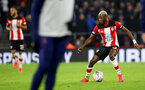 SOUTHAMPTON, ENGLAND - JANUARY 25: Moussa Djenepo of Southampton during the FA Cup Fourth Round match between Southampton FC and Tottenham Hotspur at St. Mary's Stadium on January 25, 2020 in Southampton, England. (Photo by Matt Watson/Southampton FC via Getty Images)