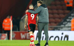 SOUTHAMPTON, ENGLAND - JANUARY 25: Danny Ings (L) and Ralph Hasenhuttl (R) during the FA Cup Fourth Round match between Southampton FC and Tottenham Hotspur at St. Mary's Stadium on January 25, 2020 in Southampton, England. (Photo by Isabelle Field/Southampton FC via Getty Images)
