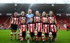 SOUTHAMPTON, ENGLAND - JANUARY 26: team photo during the Women's FA Cup Fourth Round match between Southampton FC and Coventry United Ladies at St. Mary's Stadium on January 26, 2020 in Southampton, England. (Photo by Isabelle Field/Southampton FC via Getty Images)
