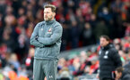 LIVERPOOL, ENGLAND - FEBRUARY 01: Ralph Hasenhuttl of Southampton during the Premier League match between Liverpool FC and Southampton FC at Anfield on February 01, 2020 in Liverpool, United Kingdom. (Photo by Matt Watson/Southampton FC via Getty Images)