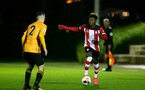 SOUTHAMPTON, ENGLAND - FEBRUARY 03: Kazeem Olaigbe during the Premier League 2 match between Southampton FC and Wolverhampton Wonderers at Staplewood Training Ground on February 03, 2020 in Southampton, England. (Photo by Isabelle Field/Southampton FC via Getty Images)