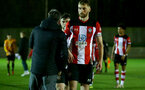 SOUTHAMPTON, ENGLAND - FEBRUARY 03: Aaron O'Driscoll during the Premier League 2 match between Southampton FC and Wolverhampton Wonderers at Staplewood Training Ground on February 03, 2020 in Southampton, England. (Photo by Isabelle Field/Southampton FC via Getty Images)