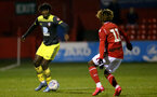 NOTTINGHAM, ENGLAND - FEBRUARY 07: Alex Janekewitz during the National League Cup between Nottingham Forest and Southampton U23 at Impact Arena Stadium on February 07, 2020 in Nottingham, England. (Photo by Isabelle Field/Southampton FC via Getty Images)