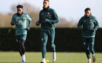 SOUTHAMPTON, ENGLAND - FEBRUARY 04: L to R Kyle Walker-Peters, Yan Valery and Sofiane Boufal during a Southampton FC training session at the Staplewood Campus on February 04, 2020 in Southampton, England. (Photo by Matt Watson/Southampton FC via Getty Images)