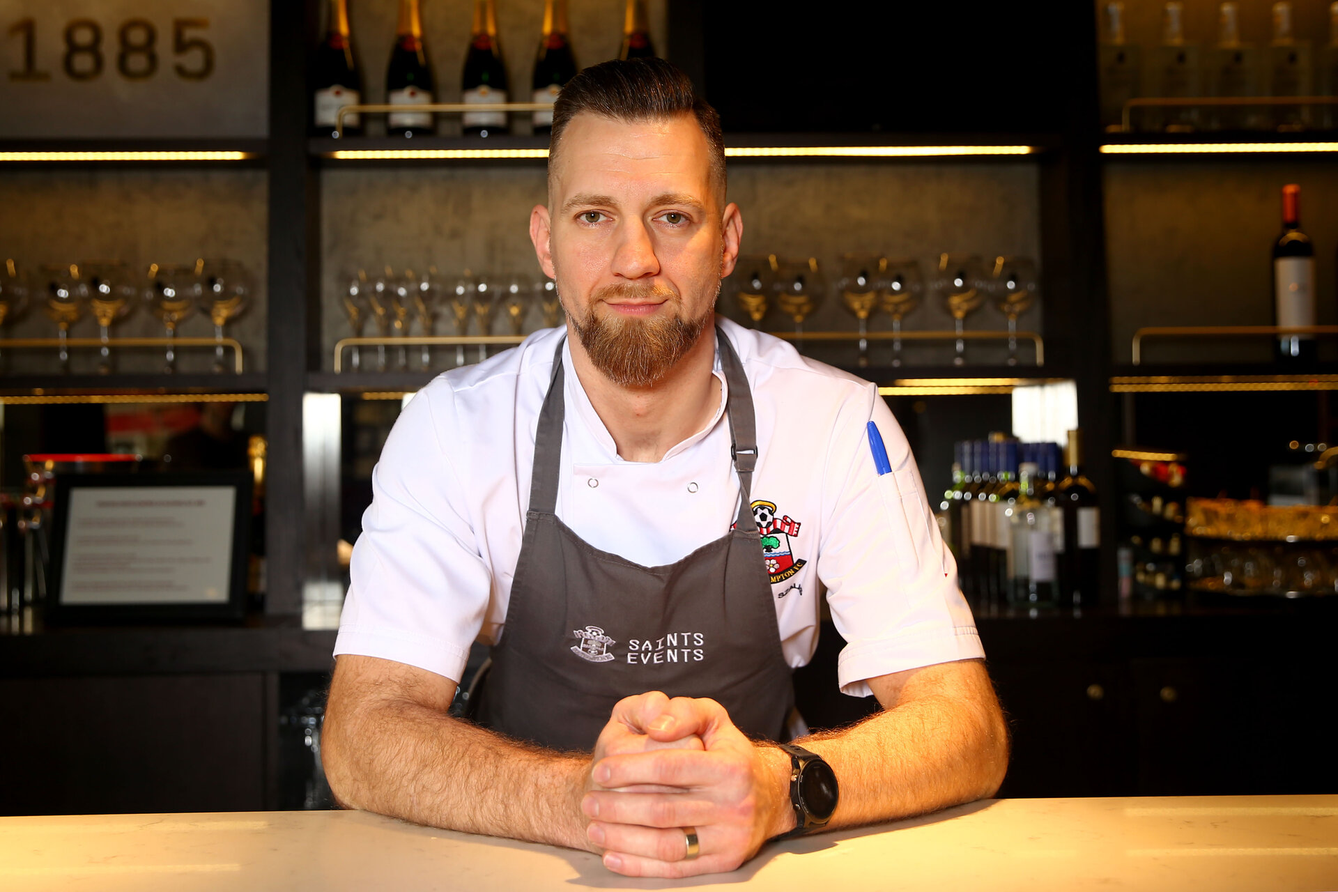 SOUTHAMPTON, ENGLAND - FEBRUARY 11: Zoltan Szalas new head chef photographs at St Mary's Stadium on February 12, 2020 in Southampton, England. (Photo by Isabelle Field/Southampton FC via Getty Images)