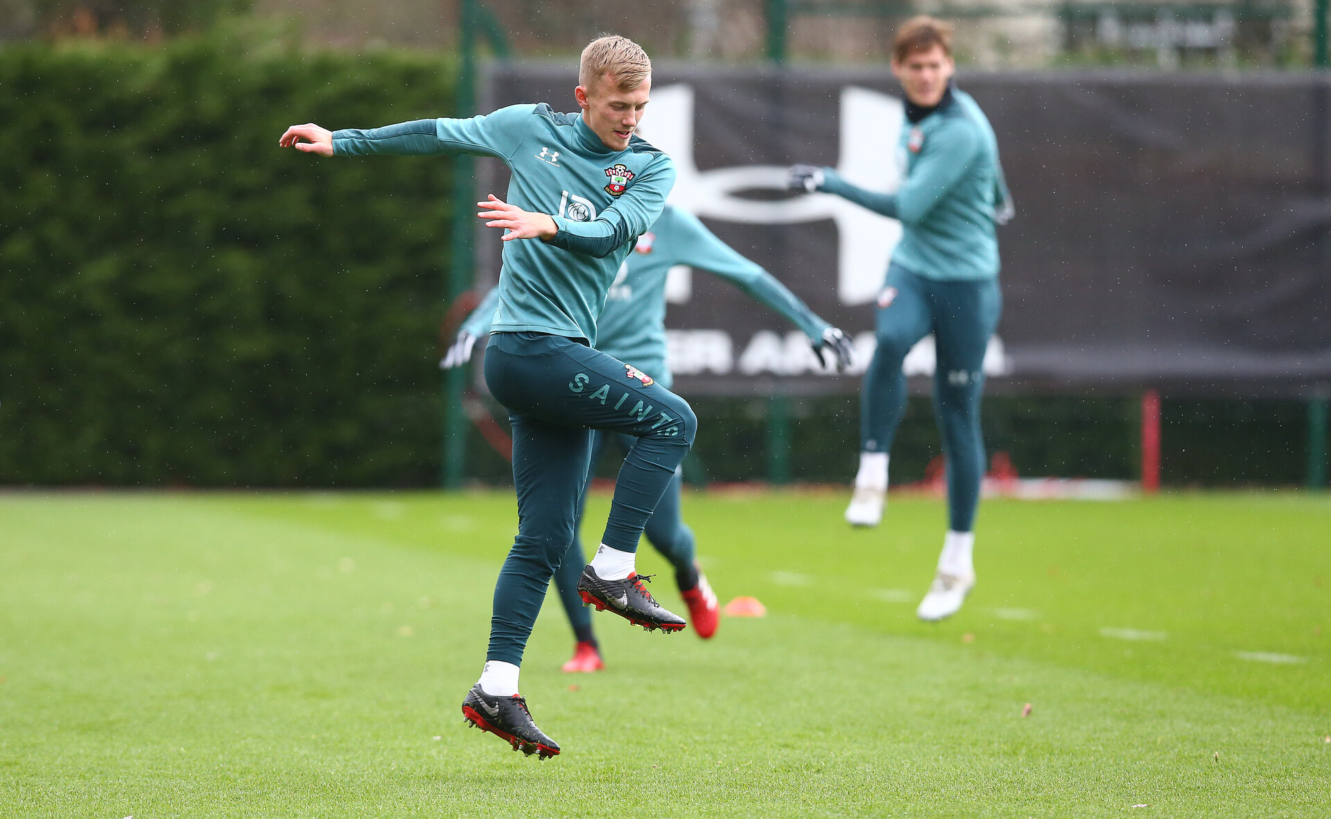 SOUTHAMPTON, ENGLAND - FEBRUARY 13: James Ward-Prowse during a Southampton FC training session at the Staplewood Complex on February 13, 2020 in Southampton, England. (Photo by Matt Watson/Southampton FC via Getty Images)
