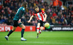 SOUTHAMPTON, ENGLAND - FEBRUARY 15: Stuart Armstrong of Southampton during the Premier League match between Southampton FC and Burnley FC at St Mary's Stadium on February 15, 2020 in Southampton, United Kingdom. (Photo by Matt Watson/Southampton FC via Getty Images)