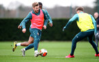 SOUTHAMPTON, ENGLAND - FEBRUARY 18: Stuart Armstrong during a Southampton FC training session at the Staplewood Campus on February 18, 2020 in Southampton, England. (Photo by Matt Watson/Southampton FC via Getty Images)