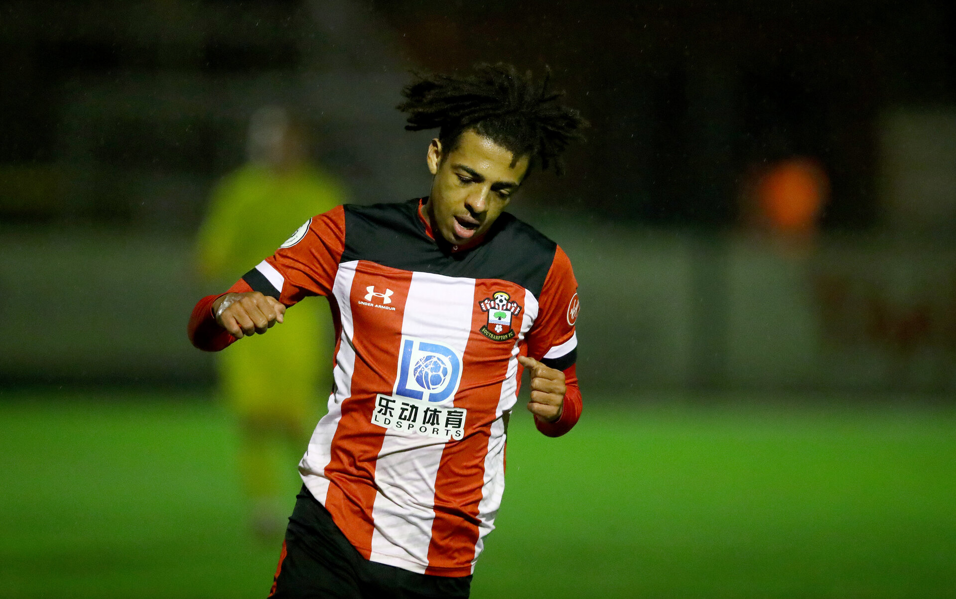 SOUTHAMPTON, ENGLAND - FEBRUARY 18: Caleb Watts of Southampton after scoring his teams second goal during the Hampshire Senior Cup match between Southampton FC and Havant and Waterlooville at the Snows Stadium, Totton, on February 18, 2020 in Southampton, England. (Photo by Matt Watson/Southampton FC via Getty Images)