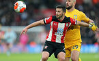 SOUTHAMPTON, ENGLAND - FEBRUARY 22: Shane Long during the Premier League match between Southampton FC and Aston Villa at St Mary's Stadium on February 22, 2020 in Southampton, United Kingdom. (Photo by Chris Moorhouse/Southampton FC via Getty Images)