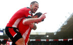 SOUTHAMPTON, ENGLAND - FEBRUARY 22: Shane Long(R) of Southampton celebrates after scoring with team mate Danny Ings during the Premier League match between Southampton FC and Aston Villa at St Mary's Stadium on February 22, 2020 in Southampton, United Kingdom. (Photo by Matt Watson/Southampton FC via Getty Images)