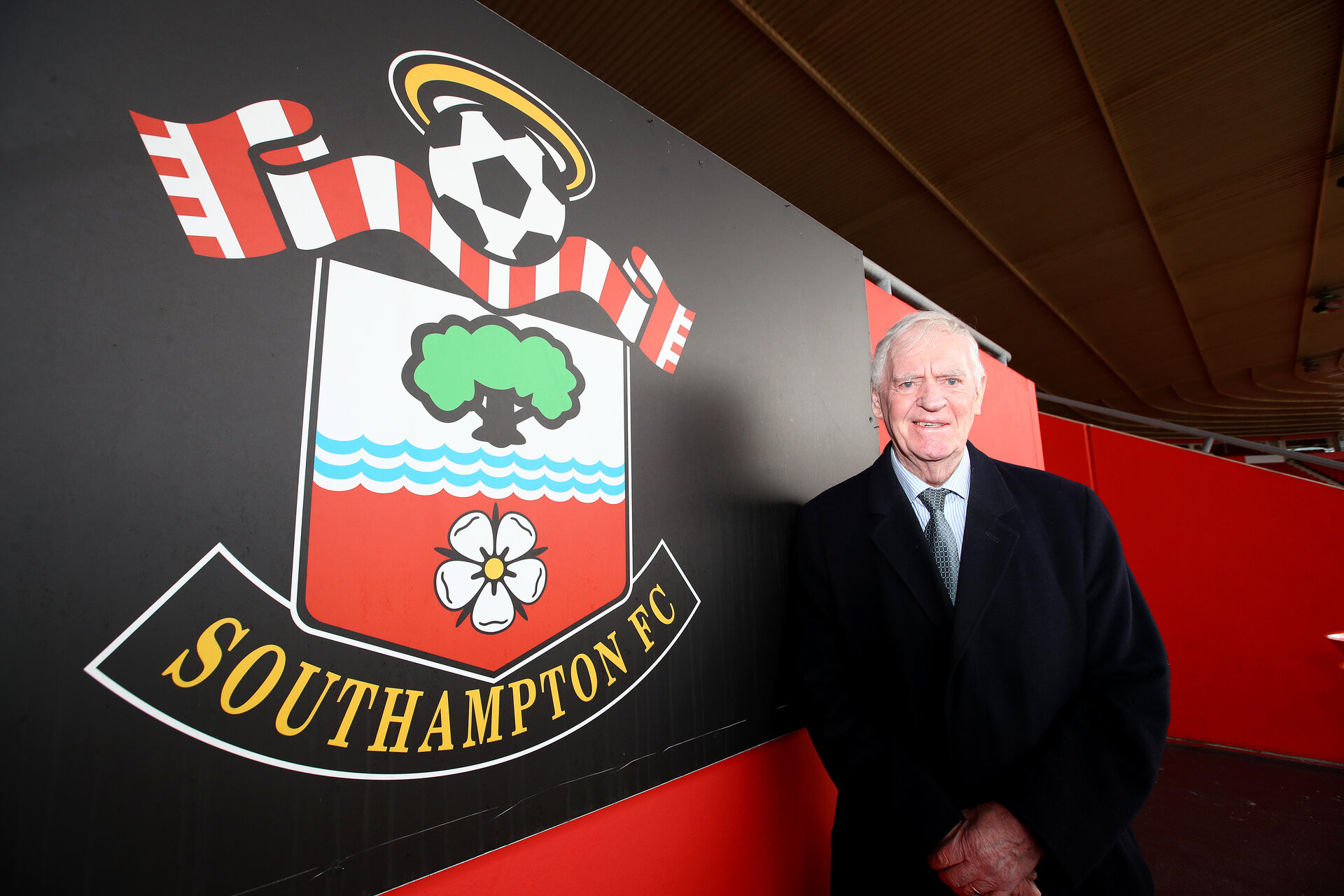 SOUTHAMPTON, ENGLAND - FEBRUARY 22: Lawrie McMenemy ahead of the Premier League match between Southampton FC and Aston Villa at St Mary's Stadium on February 22, 2020 in Southampton, United Kingdom. (Photo by Matt Watson/Southampton FC via Getty Images)