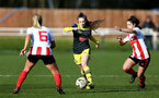 SUNDERLAND, ENGLAND - February 23: Georgie Freeland during the FAWNL semi-final at The Eppleton Colliery Welfare Ground between Sunderland and Southampton Women on February 23 2020, Sunderland, England. (Photo by Isabelle Field/Southampton FC via Getty Images)