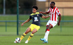 STOKE, ENGLAND - February 25: Oludare Olufunwa during the Premier League Cup game at Clayton Wood Training Ground between Stoke City and Southampton U23 on February 25 2020, Stoke, England. (Photo by Isabelle Field/Southampton FC via Getty Images)
