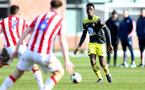 STOKE, ENGLAND - February 25: Kgaogelo Chauke during the Premier League Cup game at Clayton Wood Training Ground between Stoke City and Southampton U23 on February 25 2020, Stoke, England. (Photo by Isabelle Field/Southampton FC via Getty Images)