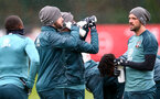 SOUTHAMPTON, ENGLAND - MARCH 05: Players drink from Wow Hydrate bottles during a Southampton FC training session at the Staplewood Campus on March 05, 2020 in Southampton, England. (Photo by Matt Watson/Southampton FC via Getty Images)