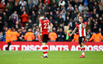 SOUTHAMPTON, ENGLAND - MARCH 07: Pierre-Emile Højbjerg(L) and Danny Ings of Southampton dejected during the Premier League match between Southampton FC and Newcastle United at St Mary's Stadium on March 07, 2020 in Southampton, United Kingdom. (Photo by Matt Watson/Southampton FC via Getty Images)