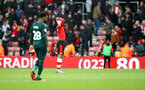 SOUTHAMPTON, ENGLAND - MARCH 07: Yan Valery of Southampton dejected during the Premier League match between Southampton FC and Newcastle United at St Mary's Stadium on March 07, 2020 in Southampton, United Kingdom. (Photo by Matt Watson/Southampton FC via Getty Images)