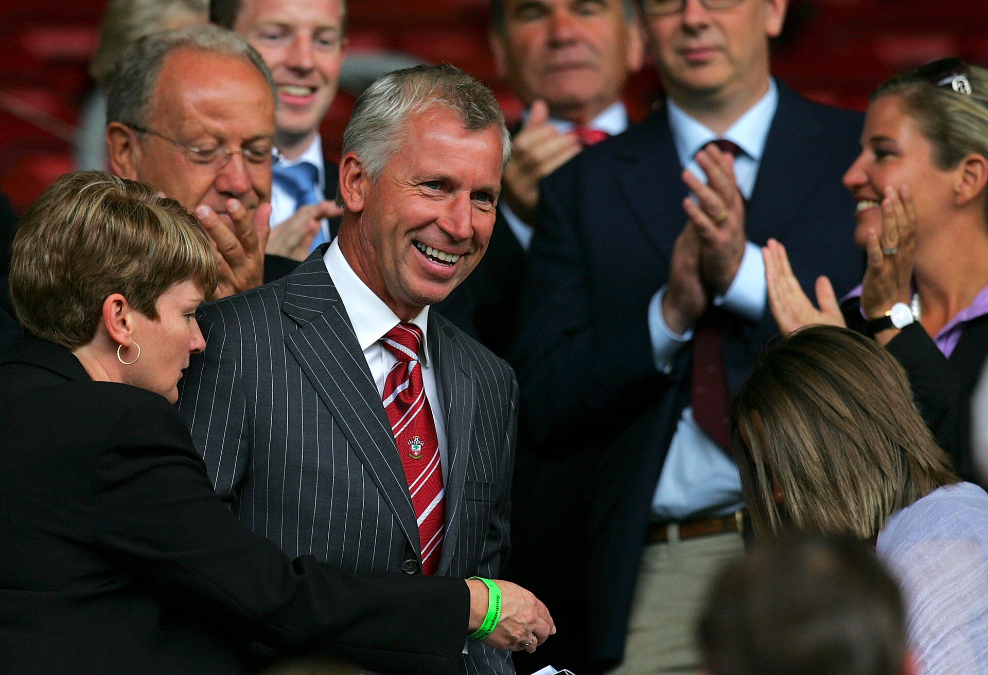 SOUTHAMPTON, UNITED KINGDOM - JULY 18: New manager of Southampton Alan Pardew smiles prior to the Pre Season Friendly match between Southampton and Ajax at St Mary's Stadium on July 18, 2009 in Southampton, England. (Photo by Tom Dulat/Getty Images)