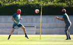 SOUTHAMPTON, ENGLAND - MAY 19: Oriol Romeu(L) as Southampton FC players return to training following Covid-19 restrictions being relaxed, at the Staplewood Campus on May 19, 2020 in Southampton, England. (Photo by Matt Watson/Southampton FC via Getty Images)