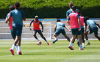 SOUTHAMPTON, ENGLAND - MAY 29: Moussa Djenepo during a Southampton FC training session, at the Staplewood Campus on May 29, 2020 in Southampton, England. (Photo by Matt Watson/Southampton FC via Getty Images)
