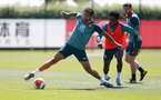 SOUTHAMPTON, ENGLAND - MAY 29: Danny Ings(L) and Kyle Walker-Peters during a Southampton FC training session, at the Staplewood Campus on May 29, 2020 in Southampton, England. (Photo by Matt Watson/Southampton FC via Getty Images)
