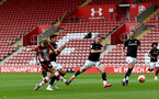 SOUTHAMPTON, ENGLAND - JUNE 12: Stuart Armstrong second goal during a friendly match between Southampton FC and Bristol City, ahead of the Premier League re-start, at St Mary's Stadium on June 12, 2020 in Southampton, England. (Photo by Matt Watson/Southampton FC via Getty Images)