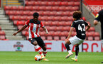 SOUTHAMPTON, ENGLAND - JUNE 12: Kevin Danso during a friendly match between Southampton FC and Bristol City, ahead of the Premier League re-start, at St Mary's Stadium on June 12, 2020 in Southampton, England. (Photo by Matt Watson/Southampton FC via Getty Images)