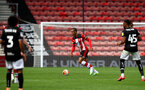 SOUTHAMPTON, ENGLAND - JUNE 12: Yan Valery during a friendly match between Southampton FC and Bristol City, ahead of the Premier League re-start, at St Mary's Stadium on June 12, 2020 in Southampton, England. (Photo by Matt Watson/Southampton FC via Getty Images)