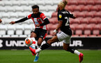 SOUTHAMPTON, ENGLAND - JUNE 12: Sofiane Boufal during a friendly match between Southampton FC and Bristol City, ahead of the Premier League re-start, at St Mary's Stadium on June 12, 2020 in Southampton, England. (Photo by Matt Watson/Southampton FC via Getty Images)