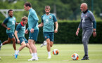 SOUTHAMPTON, ENGLAND - JUNE 17: Jack Stephens(centre) during a Southampton FC training session at the Staplewood Campus on June 17, 2020 in Southampton, England. (Photo by Matt Watson/Southampton FC via Getty Images)