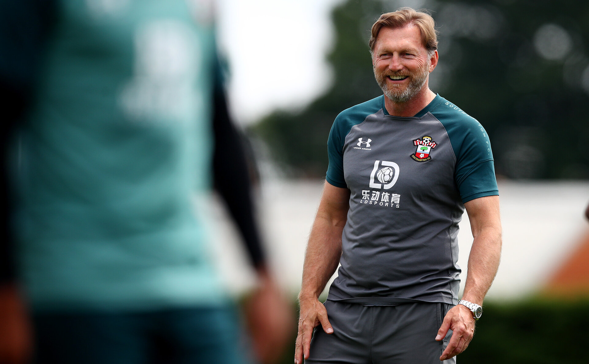 SOUTHAMPTON, ENGLAND - JUNE 17: Ralph Hasenhuttl during a Southampton FC training session at the Staplewood Campus on June 17, 2020 in Southampton, England. (Photo by Matt Watson/Southampton FC via Getty Images)