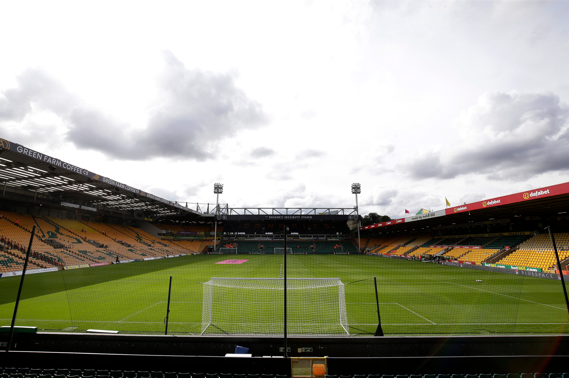 NORWICH, ENGLAND - OCTOBER 05: General view inside the stadium ahead of the Premier League match between Norwich City and Aston Villa at Carrow Road on October 05, 2019 in Norwich, United Kingdom. (Photo by Henry Browne/Getty Images)