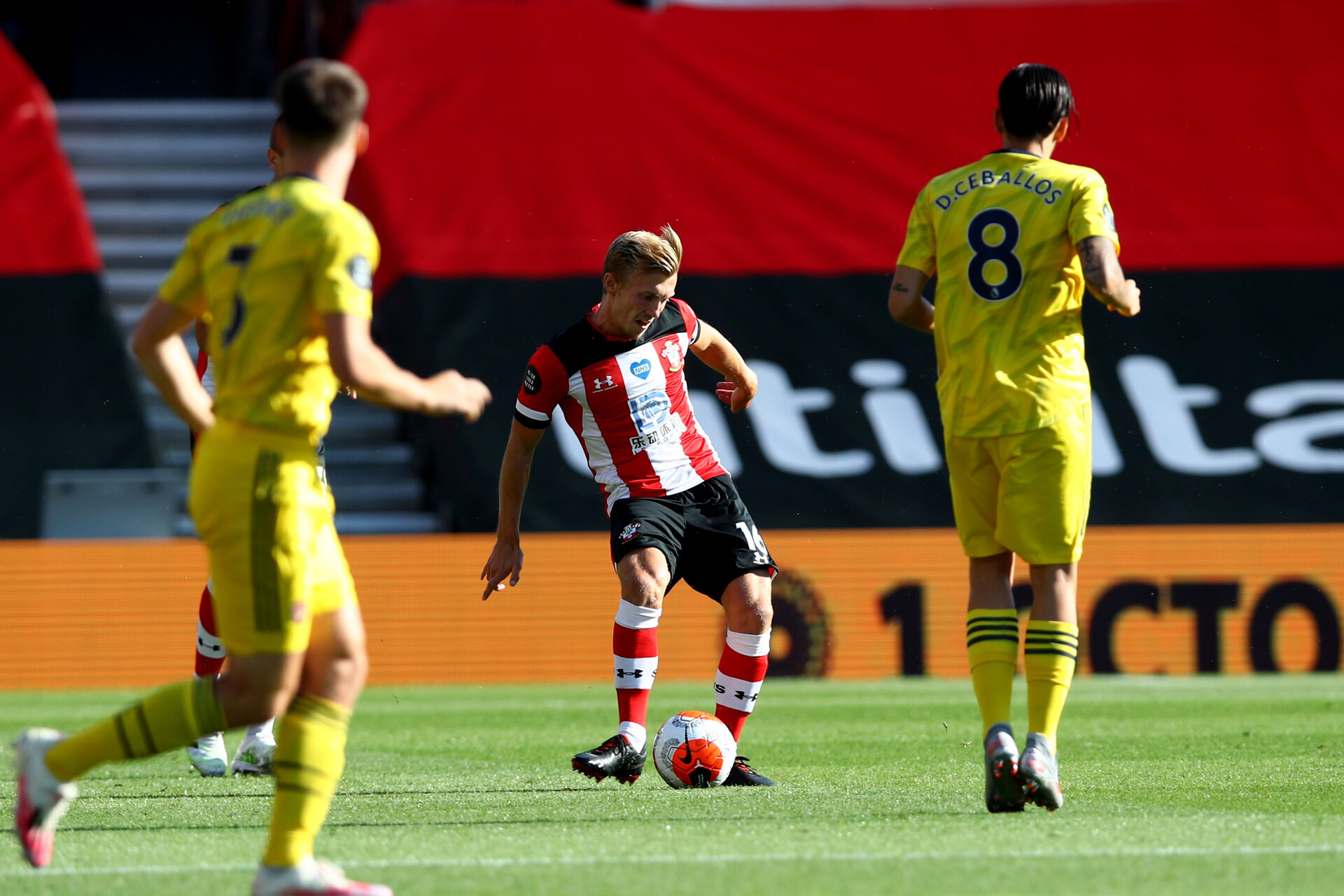 SOUTHAMPTON, ENGLAND - JUNE 25: James Ward-Prowse during the Premier League match between Southampton FC and Arsenal FC at St Mary's Stadium on March 21, 2020 in Southampton, United Kingdom. (Photo by Matt Watson/Southampton FC via Getty Images)